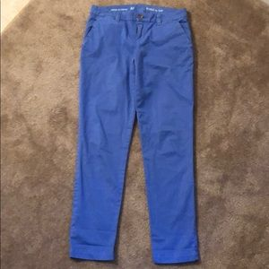 Gap broken-in straight blue khakis
